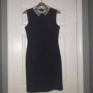 NWOT Ivanka Trump Collard Black Dress